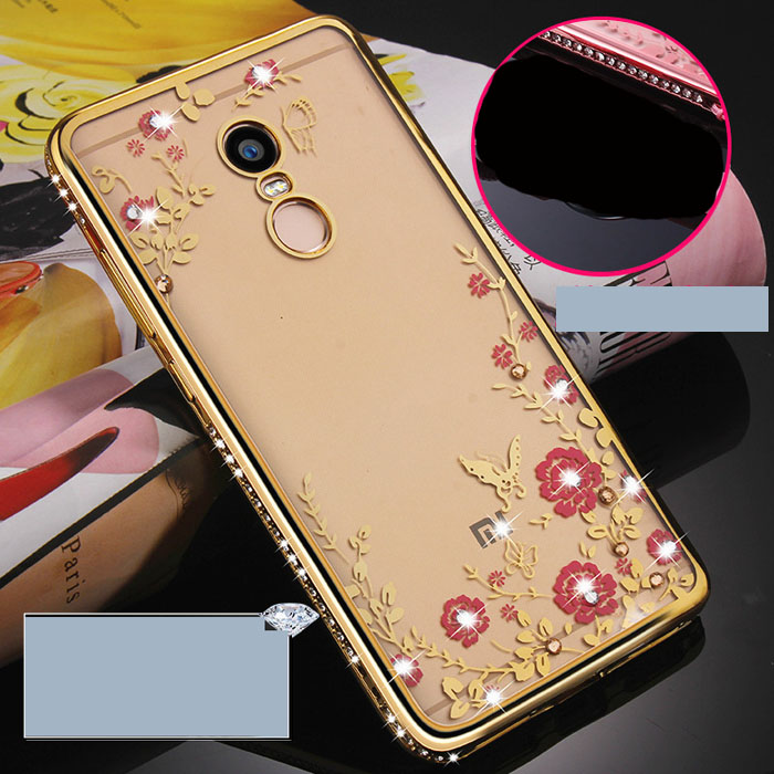 Ốp lưng Redmi Note 4 LT TPU Đính Đá thời trang nhựa mềm