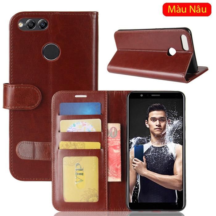 Bao da Huawei Honor 7X LT Wallet Leather dạng ví đa năng - khung mềm