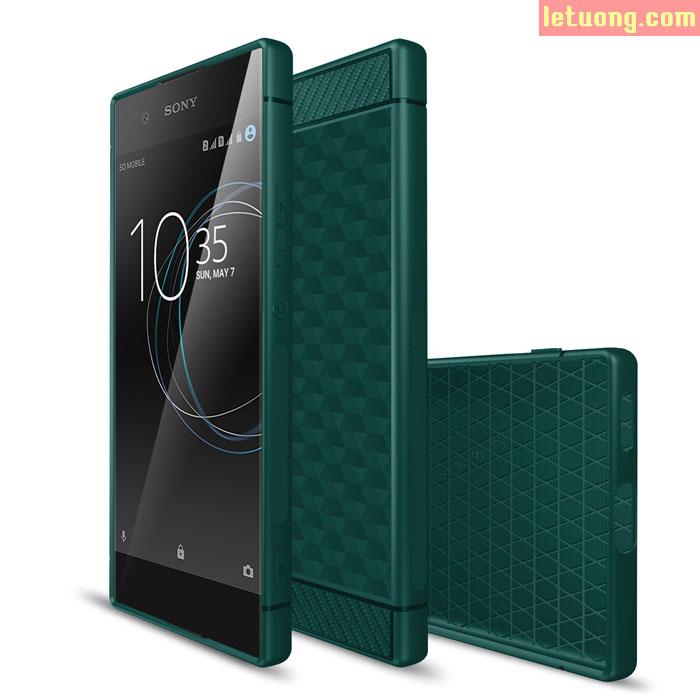 Ốp lưng Sony XA1 IVSO Carbon Fiber Geometry nhựa mềm cực đẹp
