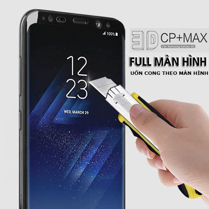 Kính cường lực Galaxy S8 Nillkin 3D CP+ Max cong full toàn màn hình + Dán lưng Carbon
