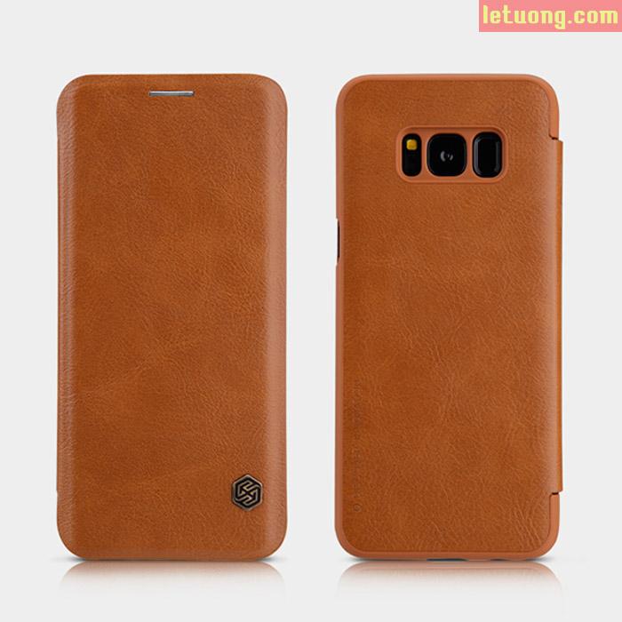 Bao da Galaxy S8 Nillkin Qin Leather sang trọng, cổ điển bền bỉ