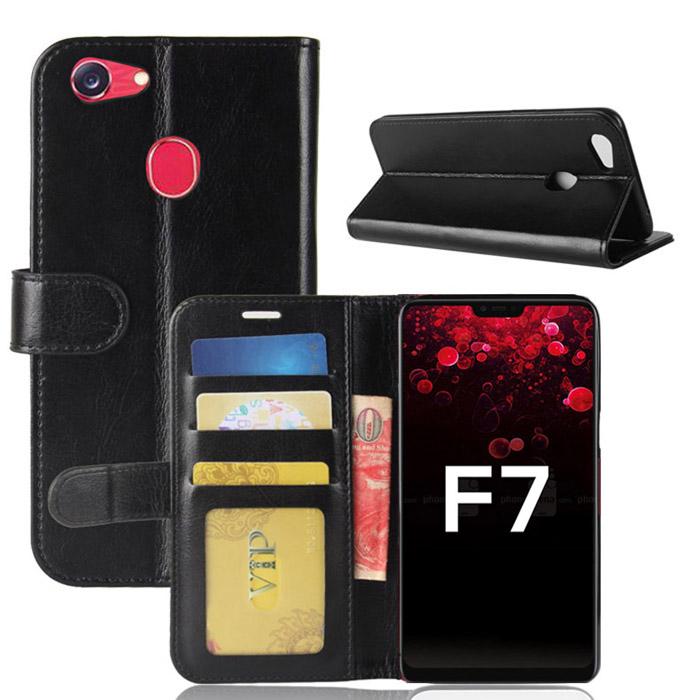 Bao da Oppo F7 LT Wallet Leather dạng ví đa năng - khung mềm