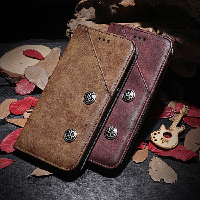 Bao da Galaxy A70 Ourhan Vintage Leather Card + Tặng dán lưng Carbon