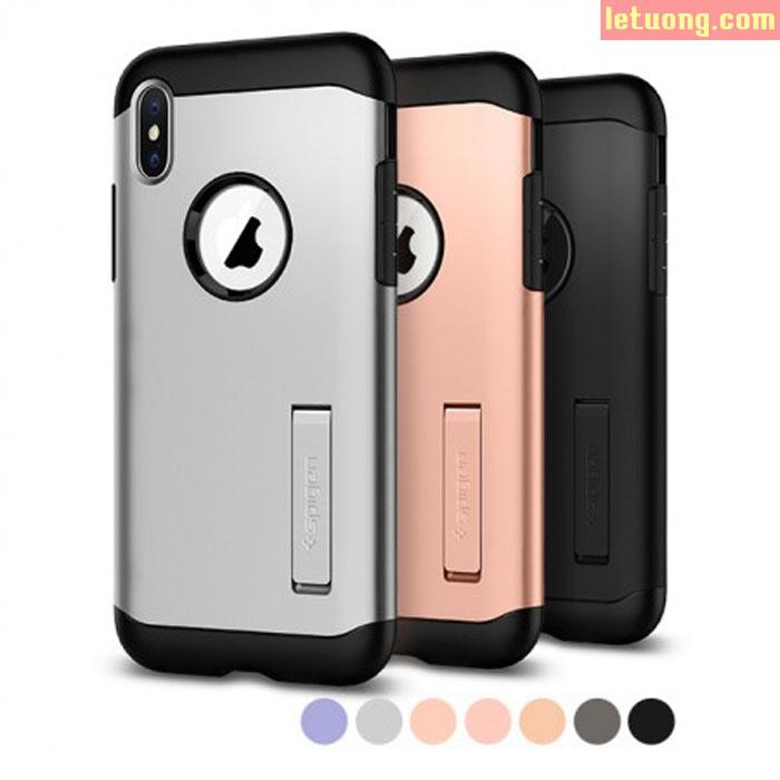 Ốp lưng iPhone Xs Spigen Slim Armor chống sốc ( Hàng USA )