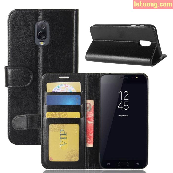 Bao da Galaxy J7 Plus ( J7+ ) LT Flip Wallet đa năng, khung mềm