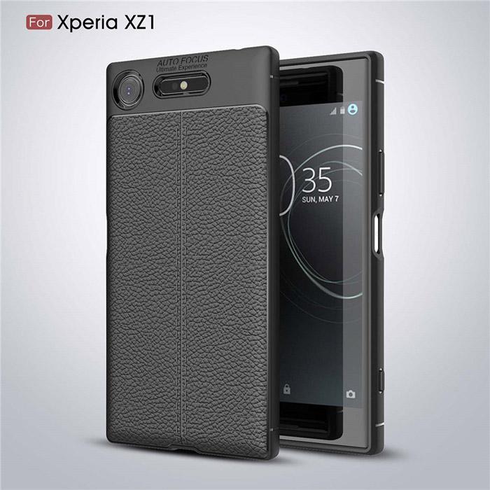 Ốp lưng Sony Xperia XZ1 Leather Design Case vân da, sang trọng
