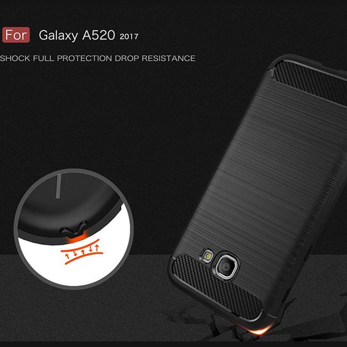 Ốp lưng Galaxy A5 2017 Viseaon Rugged Armor nhựa mềm chống sốc