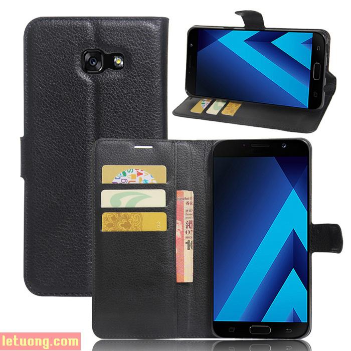 Bao da Galaxy A7 2017 LT Flip Wallet đa năng khung nhựa mềm