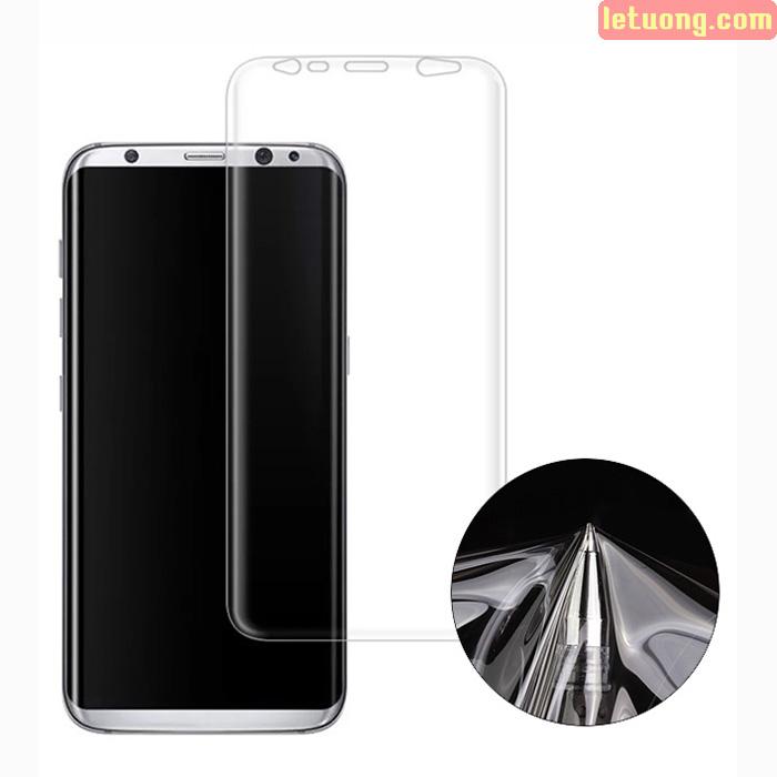 Miếng dán full màn hình Galaxy S9 Vmax 3D Curved TPU trong suốt