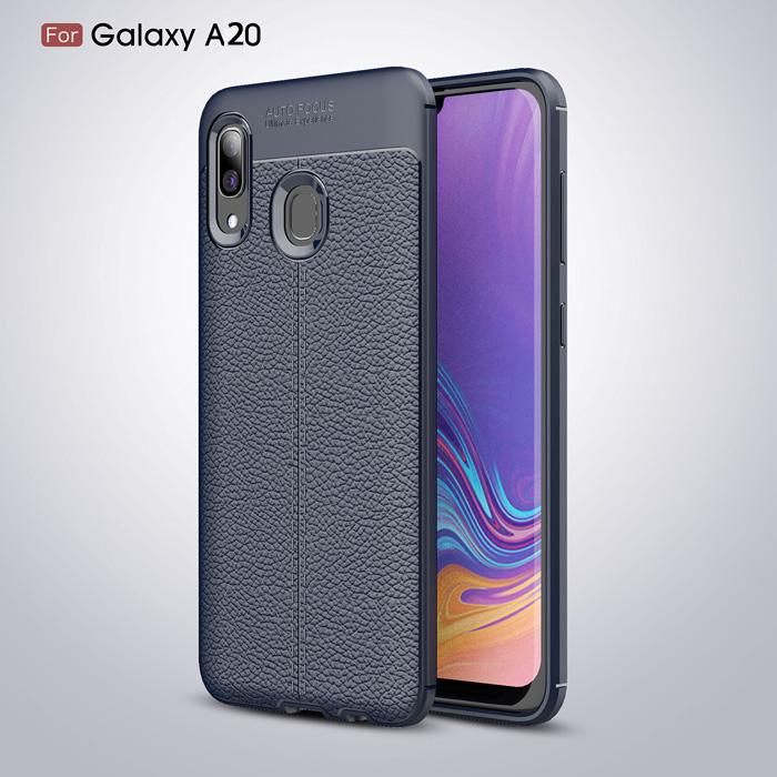 Ốp lưng Galaxy A20 LT Leather Design Case vân da sang trọng