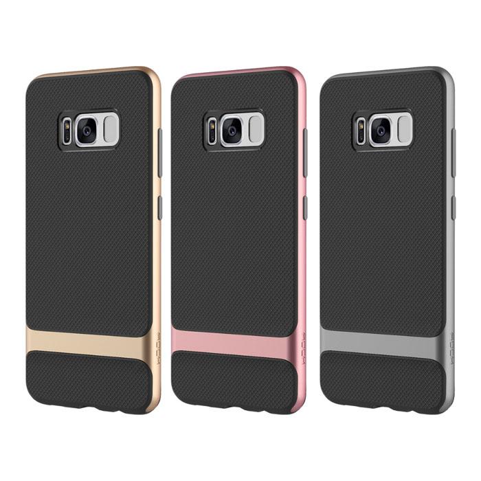 Ốp lưng Galaxy S8 Rock Royce viền kép chắc chắn + dán lưng Carbon