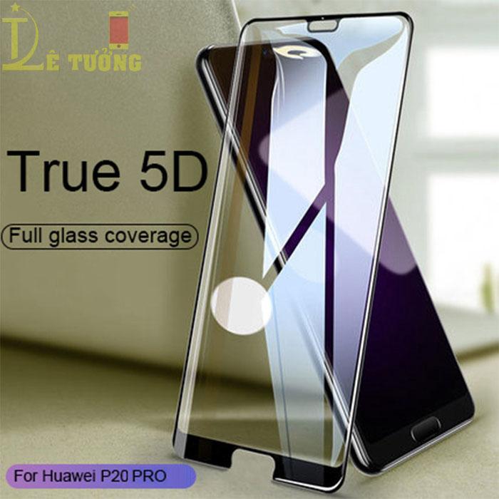 Kính cường lực full màn hình Huawei P20 Pro Glass Cover 5D, full keo toàn màn hình