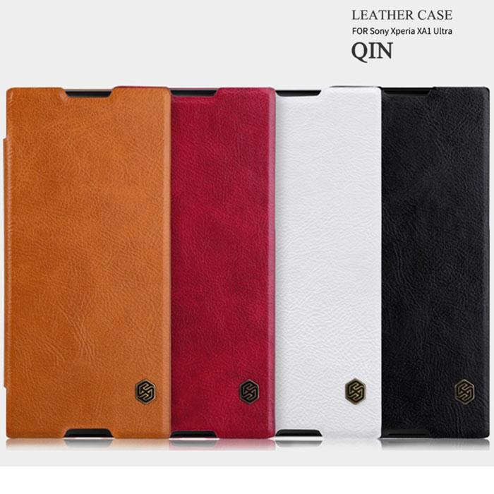 Bao da Sony XA1 Ultra Nillkin Qin Leather sang trọng, cổ điển bền bỉ
