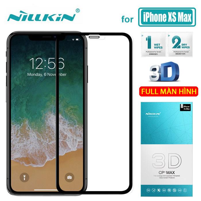 Kính cường lực iPhone Xs Max Nillkin 3D CP+ Max full toàn màn hình