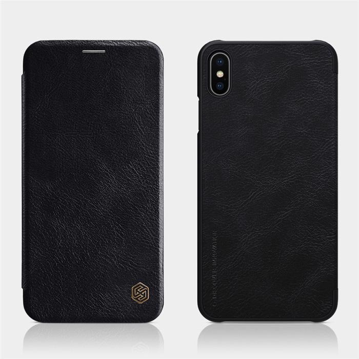 Bao da iPhone Xs Max Nillkin Qin Leather sang trọng - cổ điển
