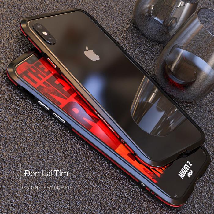 Ốp viền iPhone Xs Max Luphie Bicolourable Blade Sword + Tặng dán lưng Carbon
