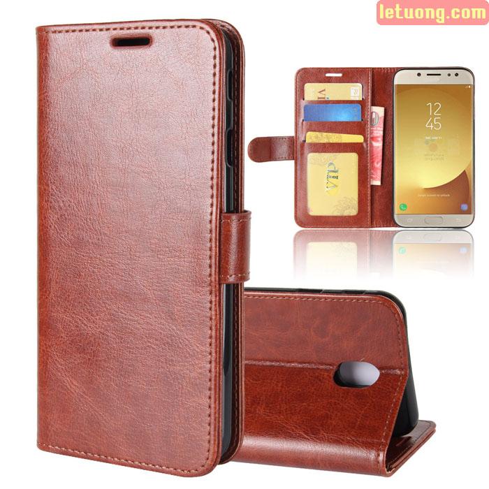 Bao da Galaxy J7 Pro LT Wallet Leather khung mềm, đa năng