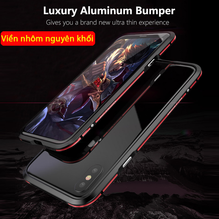 Ốp viền iPhone X / iPhone Xs Luphie Bicolourable Blade Sword
