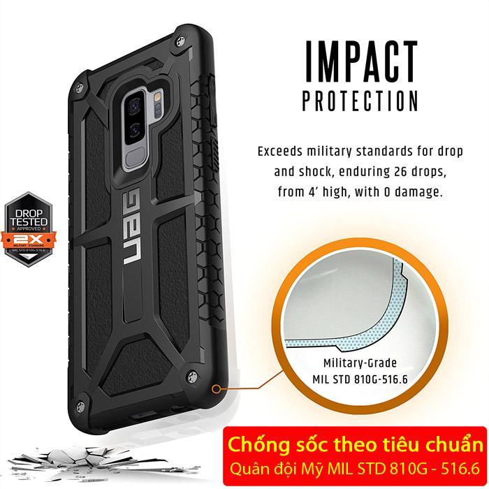 Ốp lưng Galaxy S9 Plus UAG Monarch 5 lớp chống sốc từ USA tặng dán lưng Carbon