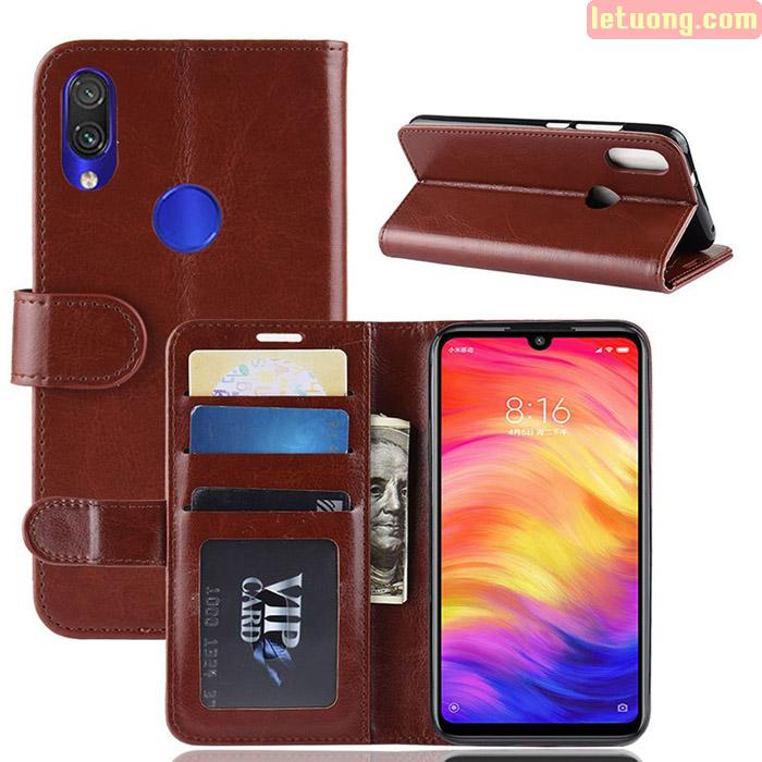 Bao da Redmi Note 7 LT Wallet Leather dạng ví đa năng - khung mềm