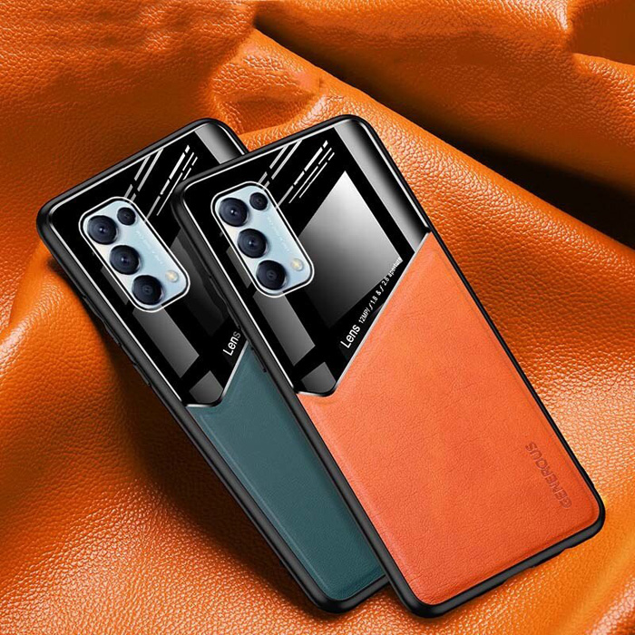 Ốp lưng Oppo Reno 5 5G LT Generous Leather Glass sang trọng