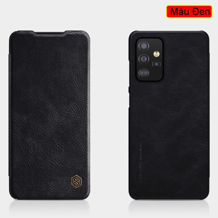 Bao da Samsung Galaxy A52, A52 5G Nillkin Qin Leather vân gỗ - cổ điển