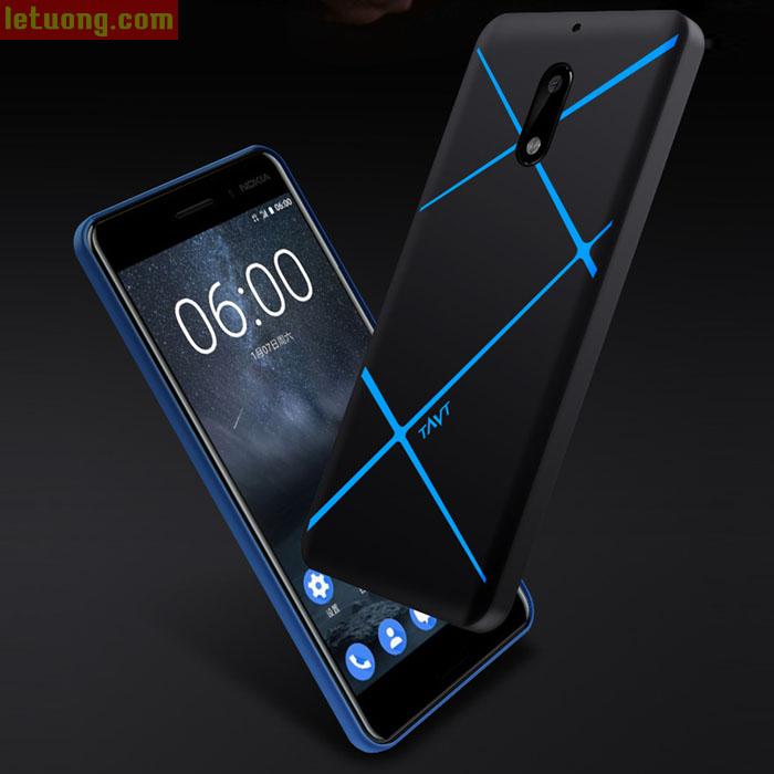 Ốp lưng Nokia 6 TAVT Case 360 kẻ chéo tuyệt đẹp, bo kín 360 độ
