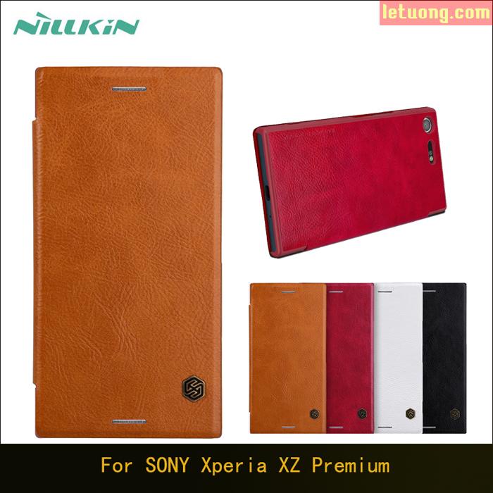 Bao da Sony XZ Premium Nillkin Qin Leather sang trọng cổ điển