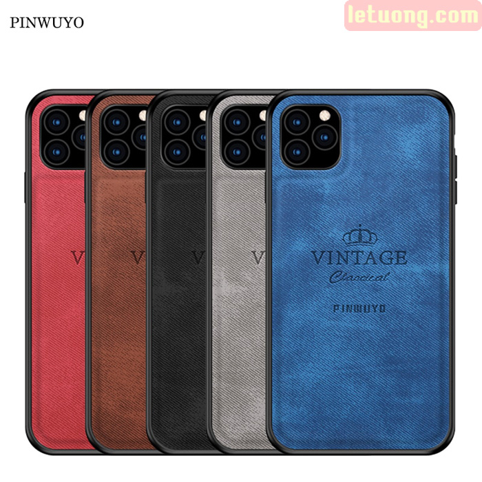 Ốp lưng iPhone 11 Pro Max Pinwuyo Honorable Series lưng da PU