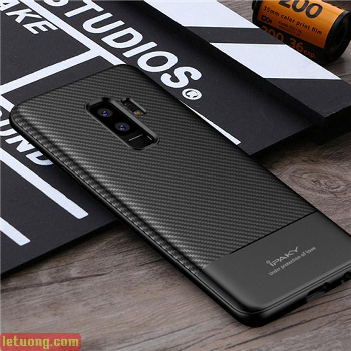 Ốp lưng Galaxy S9 Plus Ipaky Carbon Fiber chống vân tay