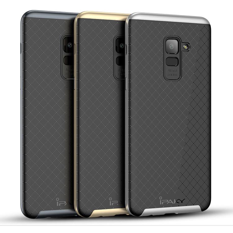 Ốp lưng Galaxy A8 Plus 2018 Ipaky Neo Hybrid viền kép chắc chắn