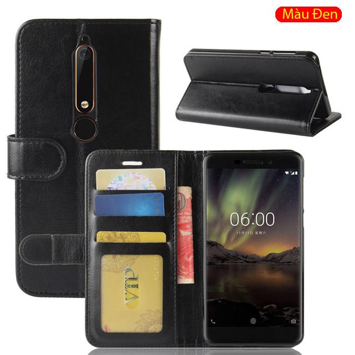 Bao da Nokia 6 New 2018 LT Wallet Leather dạng ví đa năng - khung mềm