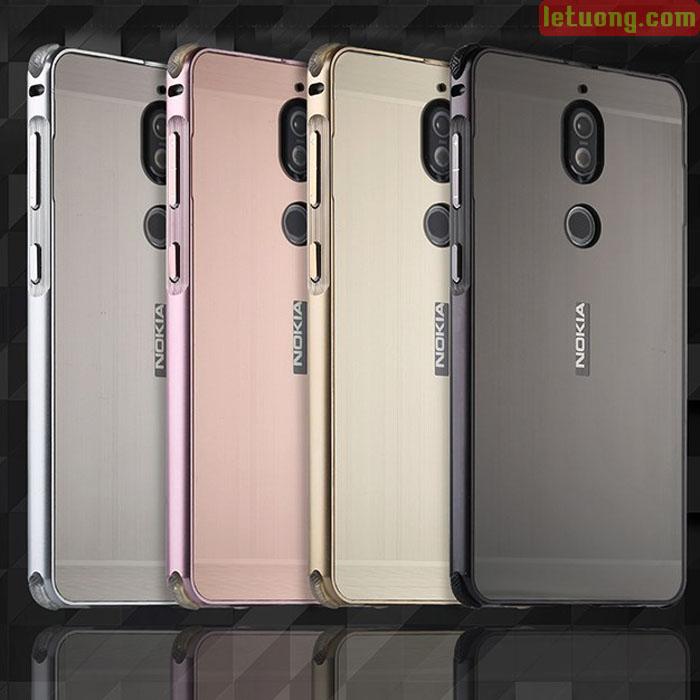Ốp lưng Nokia 7 LT Metal nhôm phay sang trọng - chắc chắn