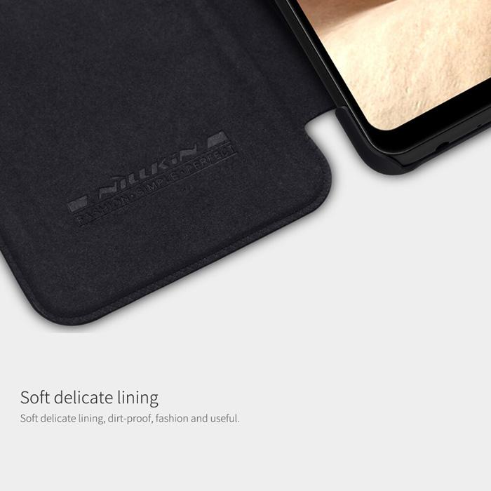 Bao da Samsung Galaxy A32 4G Nillkin Qin Leather vân gỗ - cổ điển