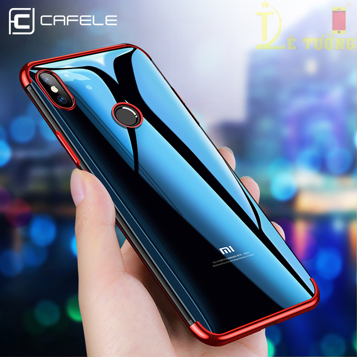 Ốp lưng Xiaomi Mi 8 Cafele Plating Case viền mạ Crom sáng bóng