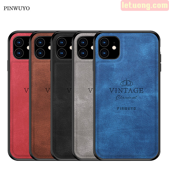 Ốp lưng iPhone 11 Pinwuyo Honorable Series lưng da PU