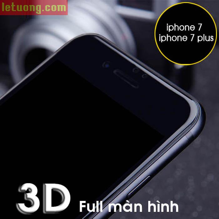 Dán kính cường lực Iphone 7 Plus, Iphone 8 Plus Nillkin 3D CP+ MAX full màn hình