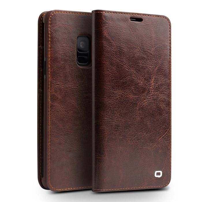 Bao da Galaxy S9 Qialino Classic Leather Wallet da thật Hanmade