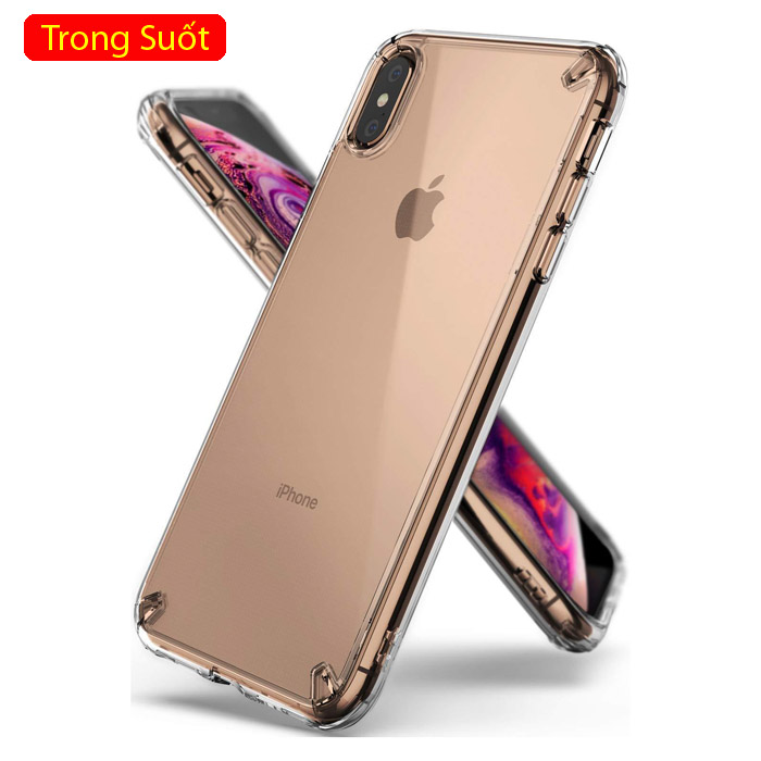 Ốp lưng iPhone Xs Max Ringke Fusion New 2018 trong suốt - chống sốc