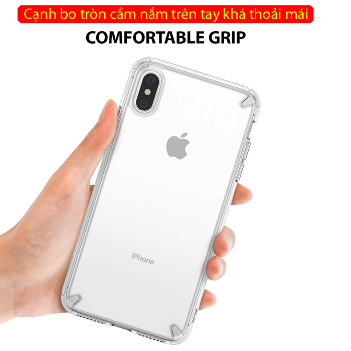 Ốp lưng iPhone Xs Max Ringke Fusion New 2018 trong suốt ( Hàng USA )