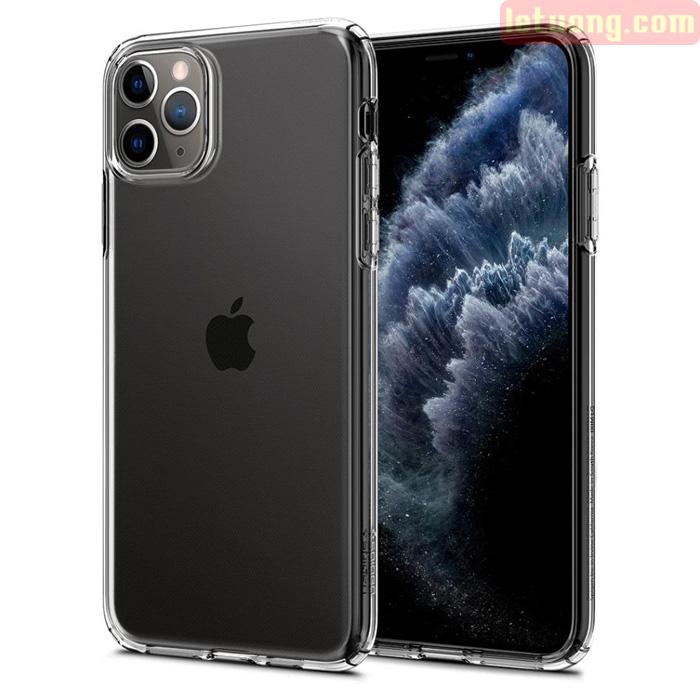 Ốp lưng iPhone 11 Pro Max Spigen Liquid Crystal nhựa mềm trong suốt ( USA )