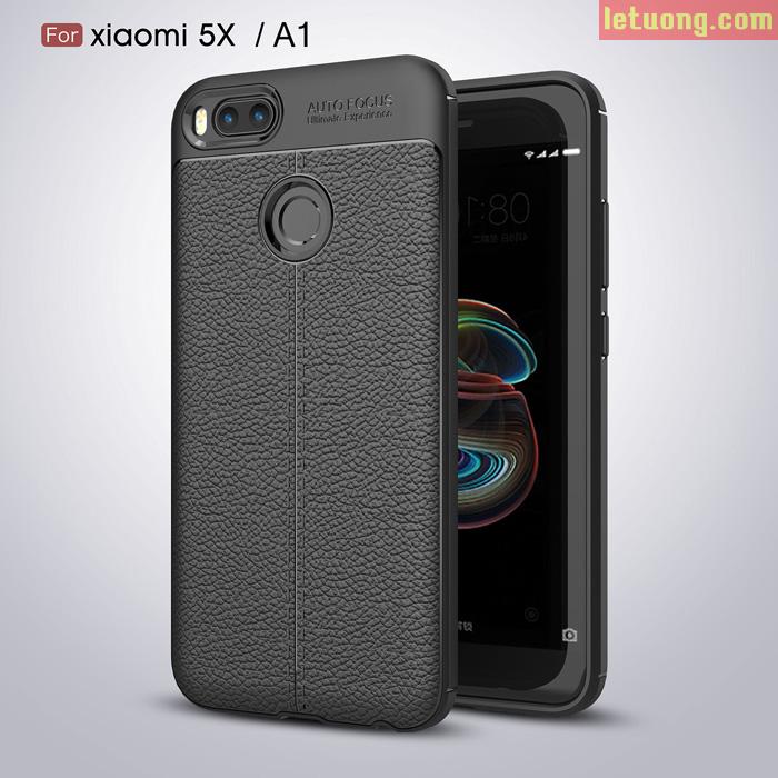 Ốp lưng Xiaomi Mi A1 ( Mi 5X )LT Armor vân da - chống sốc, chống vân tay