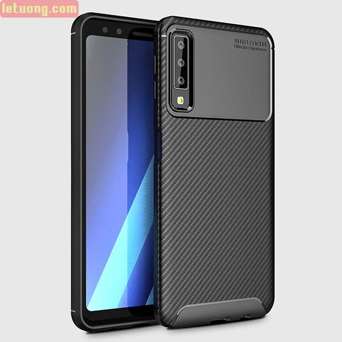 Ốp lưng Galaxy A7 2018 LT Carbon Fiber Case chống vân tay
