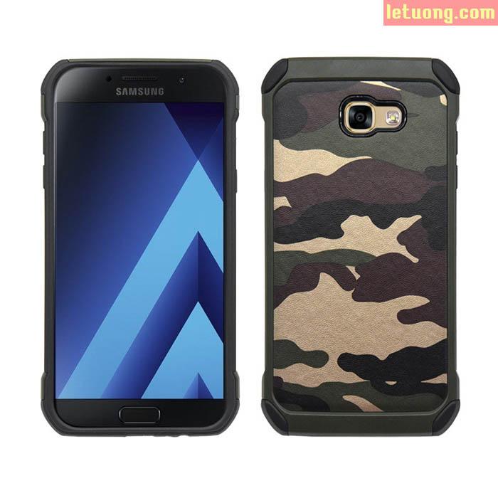 Ốp lưng Galaxy A7 2017 NXcase Camo quân đội + dán lưng Carbon