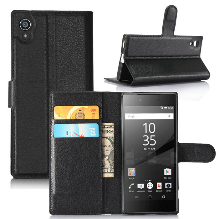 Bao da Sony XA1 LT Flip Wallet dang vi đa năng khung nhựa mềm