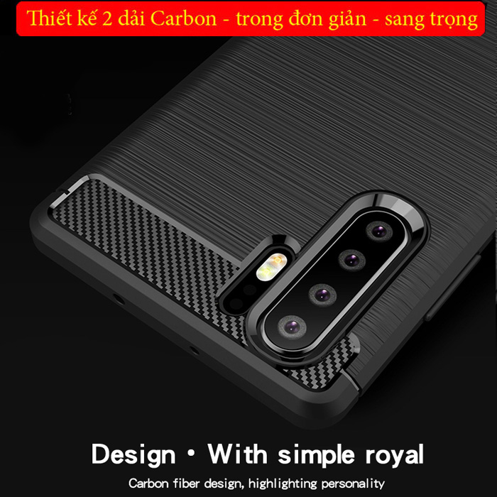 Ốp lưng Huawei P30 Pro Mofi Shen Du Rugged Carbon nhựa mềm - chống vân tay