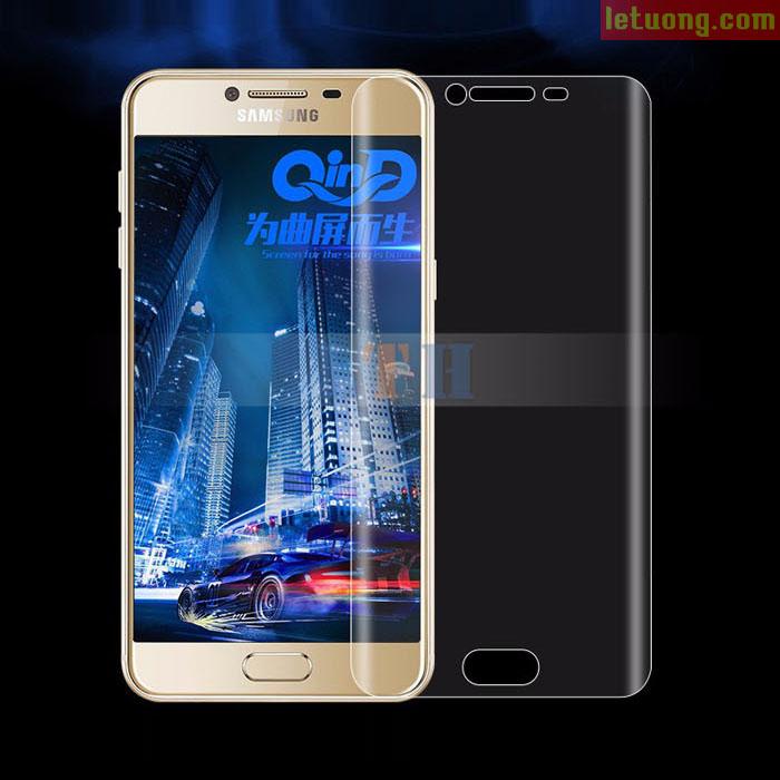 Miếng dán full màn hình Galaxy C9 Pro Vmax 3D Curved TPU