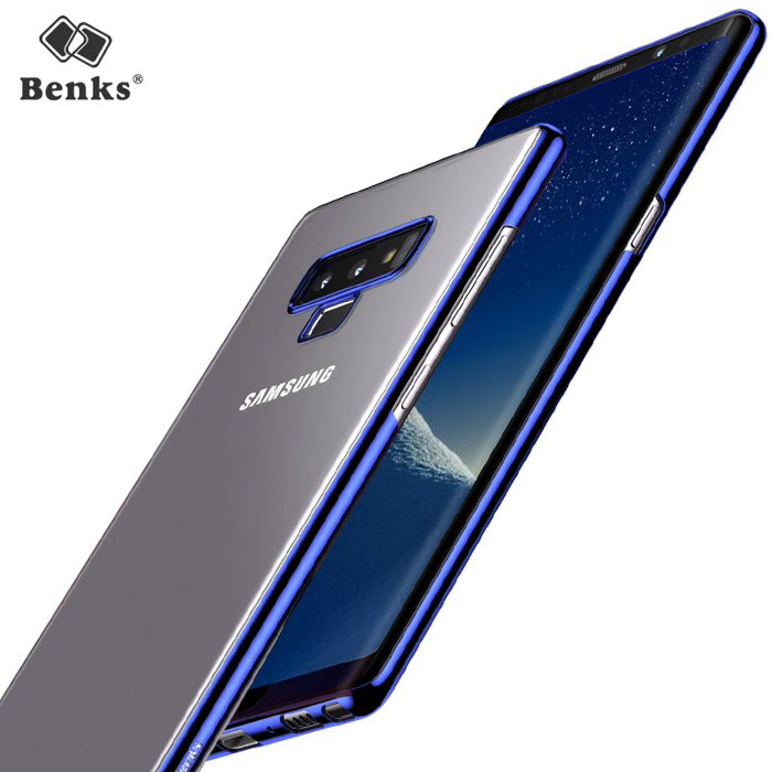 Ốp lưng Note 9 Benks Magic Pure Plating Case trong suốt, viền ma Crom