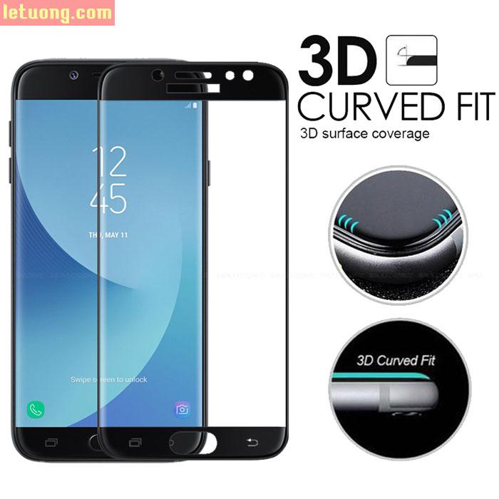 Kính cường lực full màn hình Galaxy J7 Plus Glass Full Cover 3D