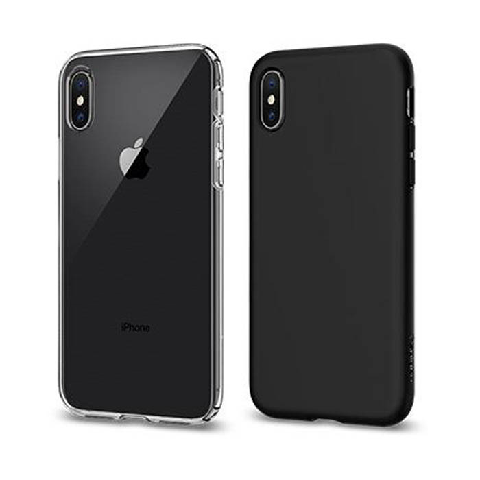 Ốp lưng iPhone X / iPhone Xs Spigen Liquid Crystal trong suốt ( USA ) + tặng dán lưng Carbon
